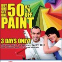3 Day Paint Sale!