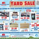 One-Day Only Yard Sale Saturday!