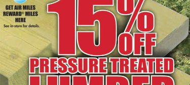 3 Days Only! 15% Off Pressure Treated Lumber