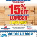 15% Off In-Stock Pressure Treated Lumber