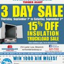 3 Day Sale: 15% Off Insulation Truckload Sale