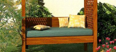 Build your own backyard arbor bench